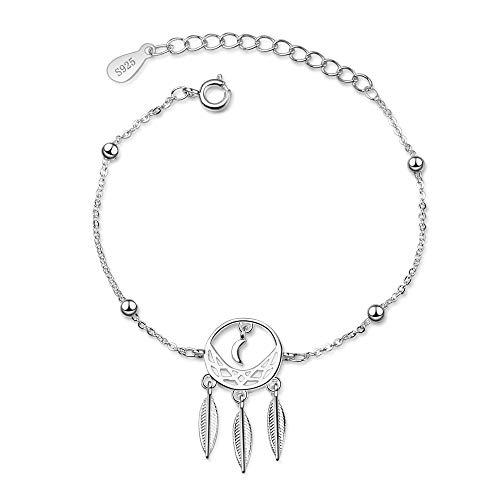 Chandler Dreamcatcher braccialetto per donne ragazze argento moda braccialetto regalo per donne moglie Mon Lady regalo di compleanno