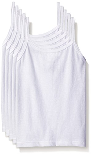 Hanes Girls' Toddler 5-Pack Cotton Cami (Assorted), White, 2/3