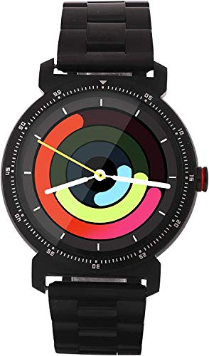 WatchOut Elegant Gen2 Jazz Black Metallica Smart Watch with Heart Rate Monitor, Call Feature, Notification, Health and Sports Tracker with Stainless Steel Strap