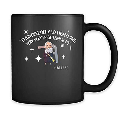 Thunderbolt And Lightning Very Frightening Me Galileo - Full-Wrap Coffee Black Mug