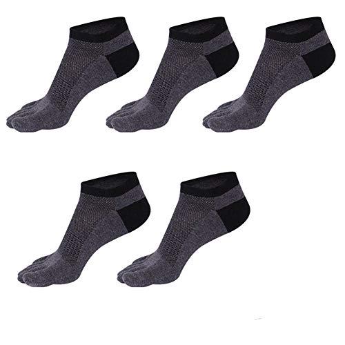 WAZIm 5 Paar Fünf-Finger-Socken Herrensocken Sommer Baumwolle Split Toe Socken Kurzrohr Boot Socken Atmungsaktive Fünf Zehen Socken
