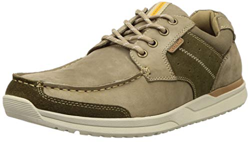 Woodland Men's Khaki Leather Sneakers-9 UK (43 EU) (10 US) (GC 3202419)