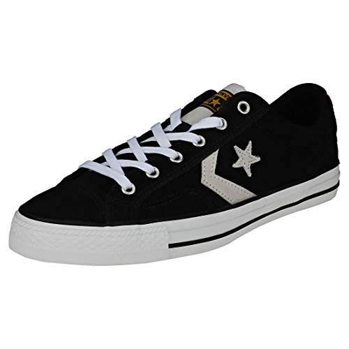 Converse Unisex-Erwachsene Lifestyle Star Player Ox Sneakers, Mehrfarbig (Black/White/University Gold 001), 39 EU