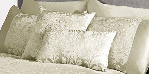 Luxe Motif floral Charleston Jacquard Damasse 30,5 x 50,8 cm Coussin boudoir Crème