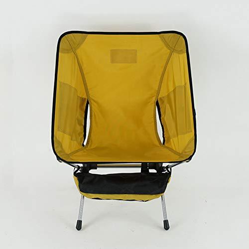 CurDecor Ultralight Faltstuhl Camping Mit Seitentasche,Kompakt Moonchair Für Strand Wandern Garten,Tragbare Klappstuhl Außen Gelb