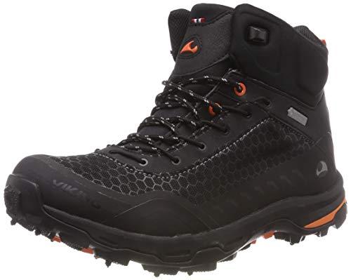viking RASK Spikes GTX M, Unisex-Erwachsene Trekking- & Wanderstiefel, Schwarz (Black/Orange 231), 41 EU (7.5 UK)