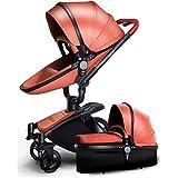 MAMINGBO Passeggino Carrozzina Carrozzina Passeggino di lusso for passeggino 3 in 1 resistente agli urti 3 in 1 for neonati e bambini (Colore : B)