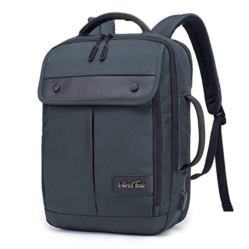 WindTook zaino porta pc 15.6 pollici da uomo zaino lavoro business laptop backpack zaino per computer con porta USB per ufficio lavoro viaggio-marrone-grigio