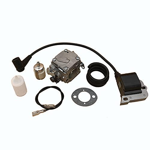 Buena resistencia a la abrasión Kit de líneas de filtro de combustible de bobina de encendido de carburador para H-U-SQVARNA 268 272 27222 272XP 61 266 PIEZAS DE MADUSAW S-PARE Ajuste perfecto