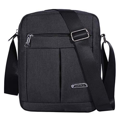 KL928 Herren Messenger Bag - Umhängetaschen Umhängetaschen Reisetasche Man Purse Casual Sling Pack für das Geschäft Business (1401-2-Black)