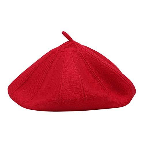 anyuq66qq Sombrero Sombrero Sólido para Mujer Gorro De Lana Mezcla Boina Colores Lisos Señoras Mujeres Niñas Sombrero Multicolores Disponibles, H, M