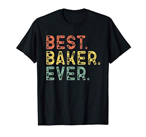 Best Baker Ever Vintage Retro Baking Gift T-Shirt