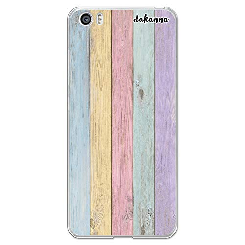dakanna Funda Compatible con [Xiaomi Mi5 / Mi 5] de Silicona Flexible, Dibujo Diseño [Madera, Color [Borde Transparente] Carcasa Case Cover de Gel TPU para Smartphone