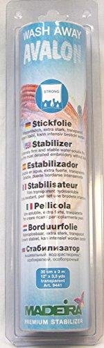 MADEIRA Stickvlies Stabilisator, Plastic, Transparent, 10 Länge x 0,3 Meter Breite