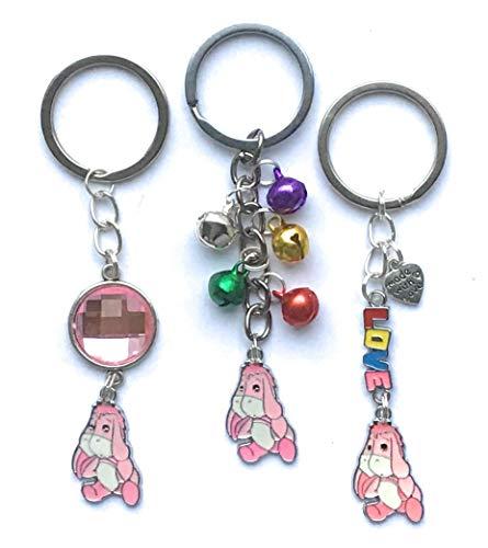 Eeyore keyring - pink - various designs