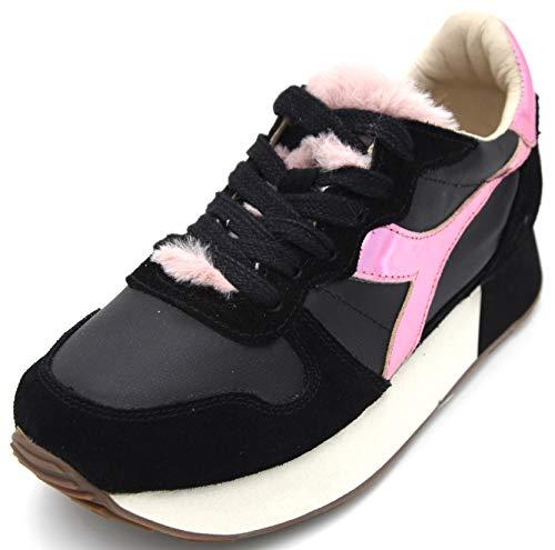Diadora Heritage Damen Turnschuhe Freizeitschuhe Sneaker Art. Camaro H W FUR 38,5 EU 7,5 USA 5,5 UK Nero Black