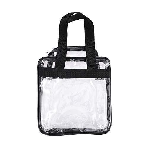 LUOEM Transparante make-uptassen draagbare handtas waterdichte toilettas waszak (zwart)