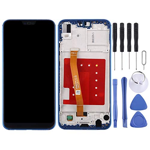 ELECTRONICS MobilePhone REPLACEMENT PART ZY LCD-scherm en Digitizer Volledige Vergadering met Frame for Huawei P20 Lite/Nova 3e (zwart) (Color : Blue)