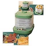 Desydratateur Alimentaire Avec 5 Plateaux, Deshydrateur Alimentaire, Déshydrateur De Fruit, 160 Watts, Température Réglable 35-70°C, Easy To Use, Green
