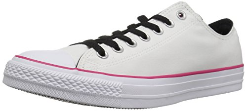 Converse Chuck Taylor All Star Color Blocked Low TOP Sneaker, Pink pop/White, 3 M US
