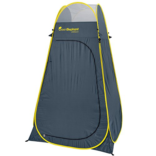 GREEN ELEPHANT Camping Shower Tent - Privacy Tent for Portable Toilet & for a Portable Shower, Extra Tall, Spacious Pop Up Changing Tent.