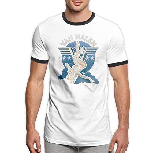 Van Halen Retro Ringer T-shirt for Men, L to 3XL
