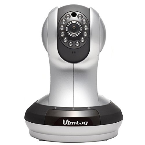 Vimtag VT-361 Super HD WiFi Video Monitoring Surveillance Security Camera, Plug/Play, Pan/Tilt with Two-Way Audio & Night Vision