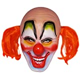 Orange Hair Clown Latex Mask Halloween Cosplay