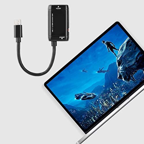 Adaptador HDMI, Adaptador Tipo C USB 3.1 de 10Gbps, para Tableta con teléfono MHL Android