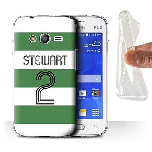 Personalisiert Persönlich Euro Fußball Vereine Trikots Kit Gel/TPU Hülle für Samsung Galaxy Ace 4 Neo/G318 / Grün Weiße Reifen Design/Initiale/Name/Text Schutzhülle/Hülle/Etui