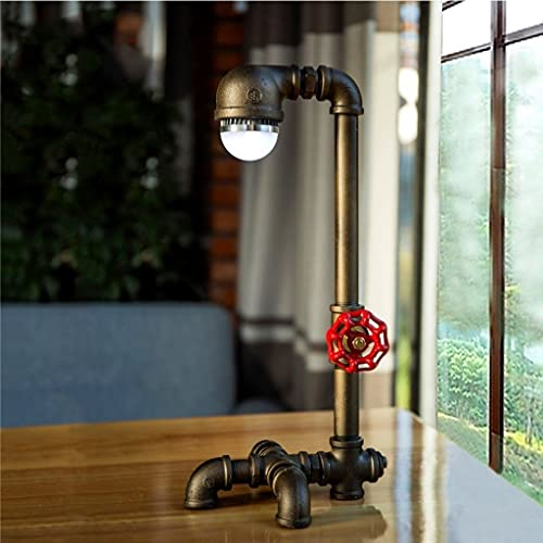 LIUMLIANG Retro queroseno lámpara antigua linterna creativo sala de estar hotel dormitorio estudio mesita de noche té mesa decoración lámpara de mesa