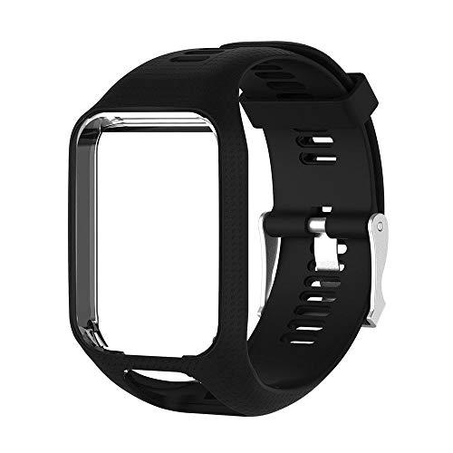 AOTUO Correa de Repuesto de Silicona para Reloj Deportivo Tomtom Runner 2/3 Spark/3 Sport GPS Watch