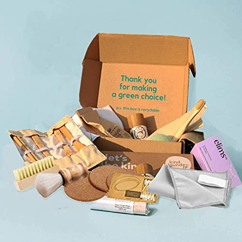 KIWI ECO BOX - Zero Waste Subscription Box: 5-7 items monthly + 45 count pet waste bags