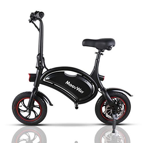 "TOEU Ebike 36V Bicicleta Electrica Plegable 12"", Black Matte, Bici Electrica Urbana Ligera para Adulto"
