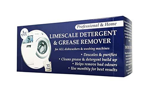 Nettoyant anti calcaire et détergent pour machines à laver et lave-vaisselle, 12 applications, 12 mois d'approvisionnement