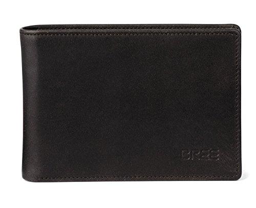 BREE Oxford 138 | Schlichte & schlanke Geldbörse | zeitlos mit vielen Fächern | Münzfach | Dark Brown