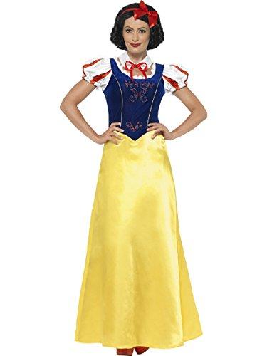 Smiffys 24643X1 - Fever Damen Schneewittchen Kostüm, Größe: 48-50 (XL), gelb