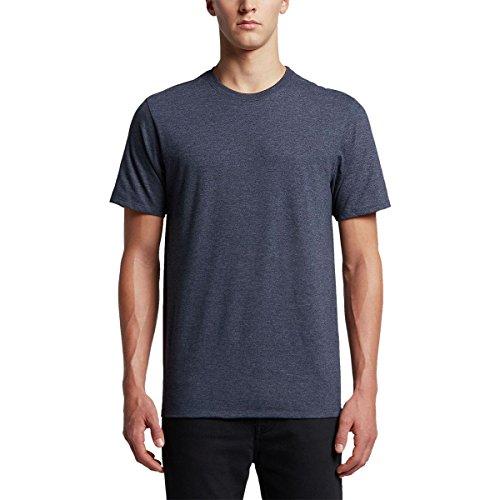 Hurley - Camiseta de manga corta de algodón premium para hombre, playera de manga corta de algodón de alta calidad, M, Negro