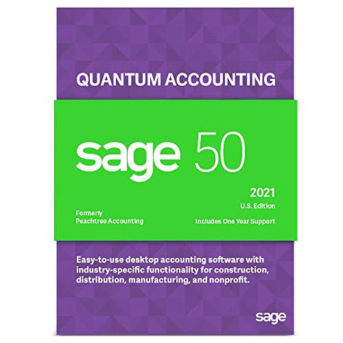 Price comparison product image Sage Software Sage 50 Quantum Accounting 2021 U.S. 3-User Accounting Software (3-Users)