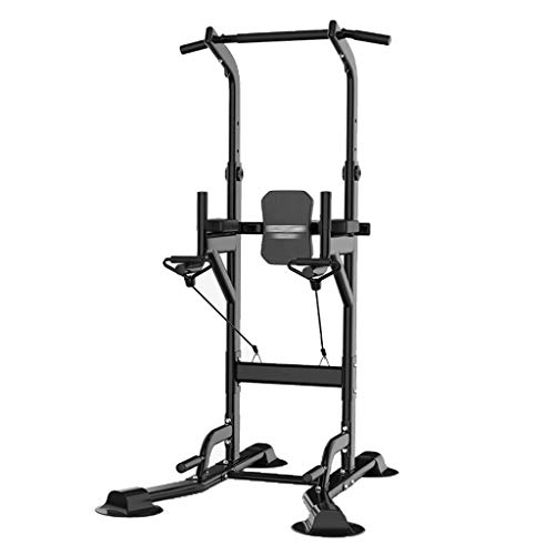 XiYou Barras paralelas Equipo de Fitness para el hogar Individual Dominadas en el Interior Entrenamiento Deportivo Individual (Negro, 80 * 100 * 240 cm)