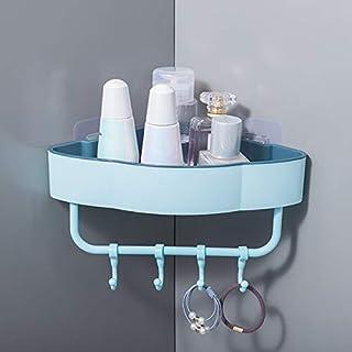 サニタリーセット バスルーム棚オーガナイザーバスシャワージェルシャンプーホルダー収納ホームデコレーションキッチンバスルームアクセサリーパンチフリーラック (Color : 水色, Size : フリー)