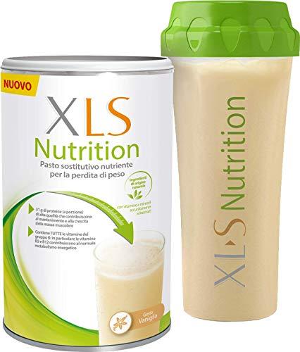 XLS Nutrition Shake Proteico Pasto Sostitutivo per una Graduale Perdita del Peso, 400 gr, 10 Porzioni, Gusto Vaniglia