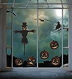 heekpek Pegatinas de Pared Halloween Esqueleto Horror Artículos Decorativos Fiesta de Halloween Reutilizable Decoración de Halloween Accesorio para Fiesta de Disfraces de Hogar y Oficina