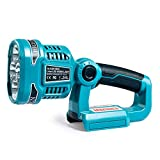 Wokyy 1120LM Cordless LED Work Light Powered by Makita 18V LXT Lithium Ion Batteries, 12W Jobsite Spotlight with 4 Mode Settings & 110 Degree Pivoting Head