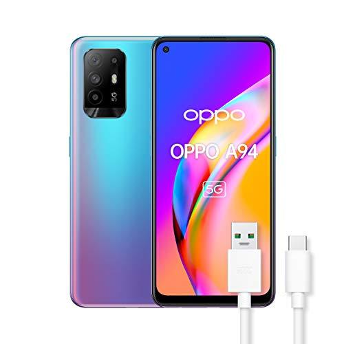 OPPO A94 Smartphone 5G, 173g, Display 6.43' AMOLED, 4 Fotocamere 48MP, RAM 8GB + ROM 128GB, Batteria 4310mAh,...