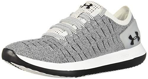 Under Armour Women's Slingride 2 Sneaker, White (105)/Black, 5.5