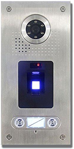 AE Farb-Videotürsprechanlage m. Fingerprint 2Fam, Außeneinheit, Edelstahlfrontplatte, 2 Familien, Unterputzmontage, SAC562C-CKZ(2)