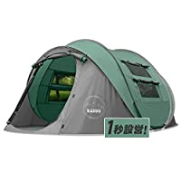 KAZOOキャンプ用自動屋外ポップアップテント防水用クイックオープニングテントキャリングバッグ付き4人用キャノピー