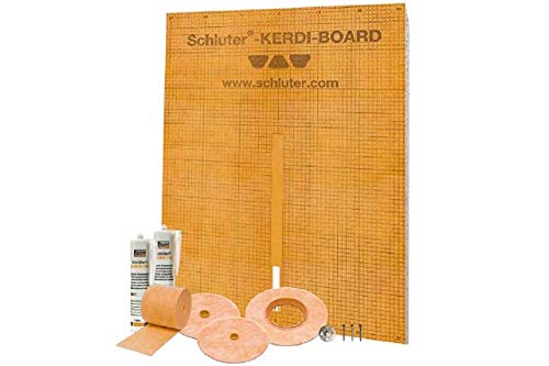 Schluter Systems Kerdi Board Waterproof Shower Kit, Model KBKIT
