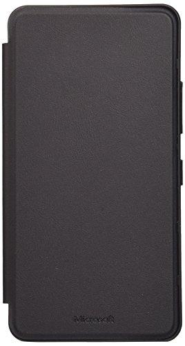 Microsoft Lumia Book Case Cover Hülle mit Kartenfach für Microsoft Lumia 640 XL - Schwarz